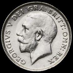 1918 George V Silver Sixpence – VF / GVF