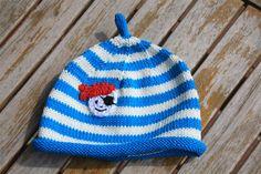 """Mützen - """"AHOI - kleiner Pirat"""" - Baumwollmütze mit Zipfel - ein Designerstück von Sonnenkaeferkinder bei DaWanda"""