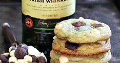 How to make Jameson Mint Chocolate Chip Cookies - Ireland Calling Mint Chocolate Chip Cookies, White Chocolate Chips, Chocolate Snacks, Mint Cookies, Cookie Recipes, Dessert Recipes, Desserts, Irish Recipes, Bourbon Recipes