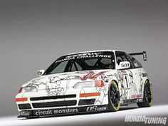 1991 Honda CRX Si VIS Hood  This is such a weapon love it