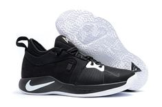 78a75f39b 2018 Nike PG 2 Black and White For Sale Mens Basketball Sneakers, White  Basketball Shoes