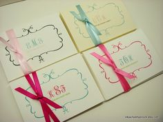 Personalized Stationery Gift Set Swirly by inkpartyemporium, $12.00