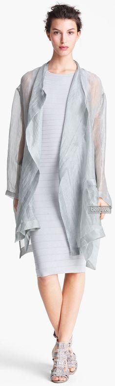 Donna Karan Collection Tissue Weight Organza Coat
