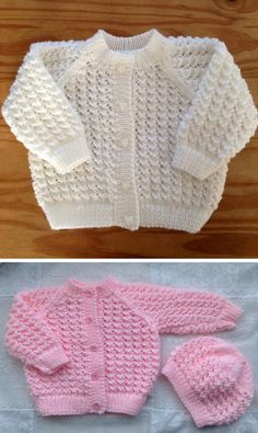 Lacey Baby Cardigan This knit pattern / tutorial is available for free. Crochet Baby Cardigan Free Pattern, Free Baby Sweater Knitting Patterns, Baby Hats Knitting, Free Knitting, Knitting Dolls Clothes, Knitted Baby Clothes, Baby Pullover Muster, Baby Girl Patterns, Knits