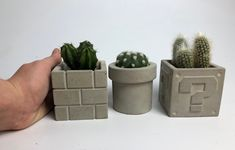 Excited to share this item from my #etsy shop: Concrete mario planter|succulent pot|cactus pot|indoor plantet|housewarming gift|gardener gift|plant lover Brick Planter, Skull Planter, Planters, Cactus Pot, Mini Cactus, Concrete Pots, Concrete Crafts, Pokemon Gifts, Gamer Gifts