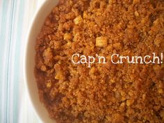 Cap'n Crunch Casserole. Interested? Our Sweet Potato Cap'n Crunch Casserole is our entry for this year's Eat to the Beat hosted by Elly Says Opa! It's an amazingly rich sweet potato casserole with ...