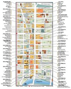 map of magnificent mile with shopping stores   Map of shops Magnificent Mile