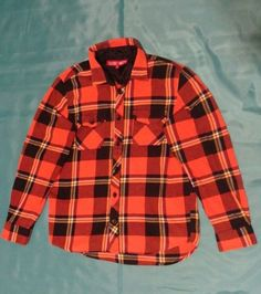 Vans off the Wall Mens Med Flannel Shirt