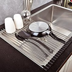 Extra Large Dish Drying Rack Mesmerizing Rollup Sink Drying Rack  Pinterest  Water Drip Sinks And Countertop Inspiration