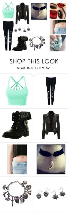 """""""Untitled #66"""" by xnightcorex ❤ liked on Polyvore featuring LE3NO, Refresh and Forever 21"""