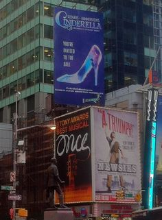 #Cinderella has staked out her own little corner of Times Square #Broadway