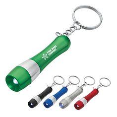 Two-Tone Aluminum LED Promotional Keychain
