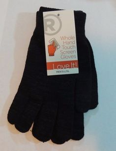 Fabulous pair of touch screen gloves except these work with your whole hand! Touch screen technology at it's finest! | eBay!