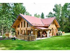Huippu - #Einfamilienhaus von Honka Blockhaus GmbH | HausXXL  #Blockhaus #Landhausstil #Satteldach