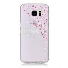 Para Samsung Galaxy S7 Edge Transparente / Estampada Capinha Capa Traseira Capinha Flor Macia TPU Samsung S7 edge / S7 / S6 edge / S6 / S5 de 5215025 2017 por €13.49
