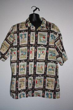 80812cc3e REYN SPOONER Mens Button Front Down Casual Golf Hawaiian Shirt Size 2 XL
