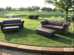 Outdoor seating at the 2014 @Four Seasons Resort and Club Dallas at Las Colinas Golf School on the Event Lawn     BRB Events
