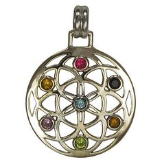 Sterling Silver Flower of Life Geometic Mandala Pendant Eastern New Age Jewelry