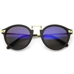 Vintage Steampunk Inspired Round Horned Rim Frame Sunglasses 8591w