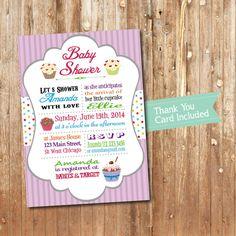 Cupcake Baby Shower Printable Invitation by soardandelion on Etsy, $12.50
