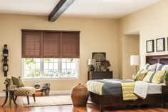 Designed to look like real wood, Bali Composite and Faux Wood Blinds add timeless beauty on a budget. #blinds #fauxwood #woodblinds #fauxwoodblinds #bali #baliblinds #windowtreatments #window #windowtreatment #steves