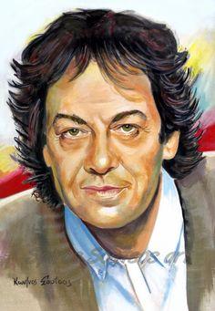 Giannis Parios / Γιάννης Πάριος πορτραίτο, αυθεντικός πίνακας ζωγραφικής Greeks, Personality, Poster, Artists, Portrait, Celebrities, Sexy, Music, Artwork
