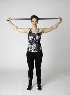 Kuminauhajumppa - Liikettä yläselälle! | Selkäkanava Pilates, At Home Workouts, Health Fitness, Koti, Sporty, Exercise, Style, Fashion, Living Room
