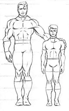 Frontal masculino superheroico.