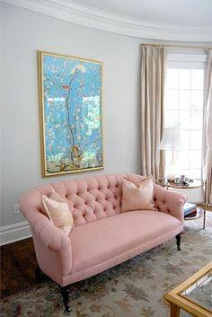Living Room- sofa & art