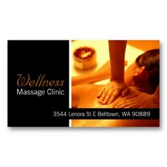 Massage therapist business card massage pinterest business massage therapist clinic wellness business card cheaphphosting Gallery
