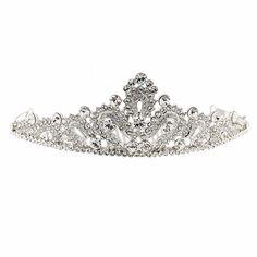 a6b966d0da7c Swarovski Crystal Swarovski Crystal Regal Fleur De Lis Tiara Clear White Diamond  Swarovski Crystals Necklaces