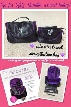 Do you want a mini Younique travel collection bag?  All you have to do is order the June Kudos Go for Glitz Bundle and that cute little mini is all yours!  https://www.youniqueproducts.com/jessicasimard