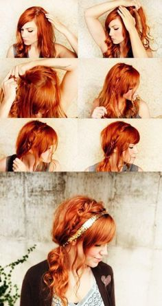 To Style a Side Braid brilliant and simple braided ponytail - Wolfe does this inspire your red hair ideas?brilliant and simple braided ponytail - Wolfe does this inspire your red hair ideas? Popular Hairstyles, Pretty Hairstyles, Girl Hairstyles, Braided Hairstyles, Braided Updo, Amazing Hairstyles, Wedding Hairstyles, Love Hair, Great Hair