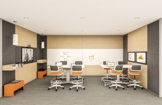 Meetings that require active participation benefit from a space designed for multiple modes, using connective technologies for local and virtual collaboration.