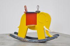 wooden toys * vintage * Elephant Rocker by de Stijl Vintage Elephant, Elephant Love, Deco Kids, Educational Toys For Kids, Kids Room Art, Wood Toys, Kids Furniture, Vintage Toys, Kids Playing