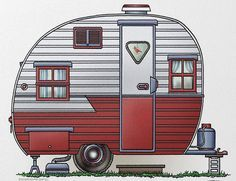 Whimsical Mobile Scout Travel Trailer (pinned by haw-creek.com)
