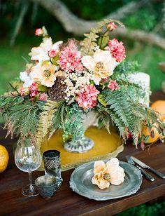 Game of Thrones inspired table decor with metals + goblets