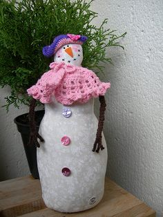 A snowwoman !