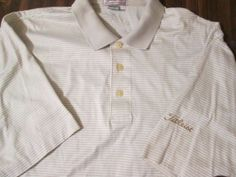 TITLEIST GOLF POLO SHORT SLEEVE SHIRT SIZE LARGE  100 % COMBED COTTON