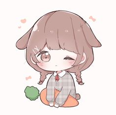 Dibujos Anime Chibi, Cute Anime Chibi, Kawaii Chibi, Kawaii Anime Girl, Anime Art Girl, Kawaii Drawings, Cute Drawings, Chibi Girl Drawings, Bebe Anime