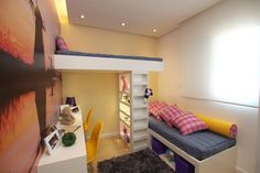 escrivaninha quarto infantil com beliche pricila dalzochio