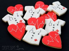 Doctor Cookies  Create. Bake. Love.: Wedding Shower for a Doctor Couple