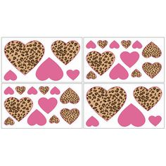 Sweet Jojo Designs Cheetah Pink Collection Wall Decal Stickers
