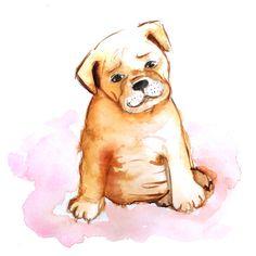 Pet Portrait Pet watercolor illustration Dog Painting by DCinStyle