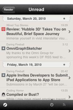 Reeder - fav RSS app