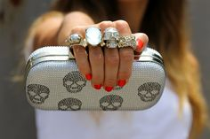 Alexander McQueen knuckle clutches....this is beyond made for me