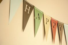 Happy Birthday Banner ( Bunting, Sign, Flags, Pennants) in CHALK BOARD. Perfect for Party Decoration