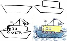 Pictures for Kids to Draw Step by Step. Military Heavies: War Plane, Warship and Tank