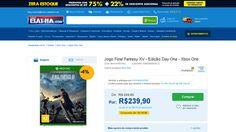 [Casas Bahia] Jogo Final Fantasy XV - Edição Day One - Xbox One - de R$ 258,70 por R$ 239,90