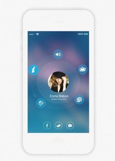 iOS8 Design Concept. by Rabin Dey, via Behance